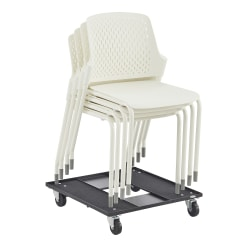 Safco® Next Stacking Chairs, White, Set Of 4 Chairs