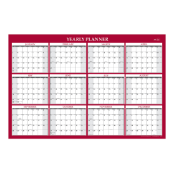 "Blue Sky™ Jumbo Laminated Calendar, 48"" x 32"", January To December 2021, 100034"