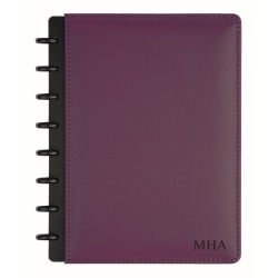 """TUL™ Personalized Custom Note-Taking System Discbound Junior-Size Notebook, 8 1/2"""" x 5 1/2"""", Purple"""