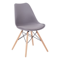 Ave Six Allen Guest Chair, Gray/Natural Wood