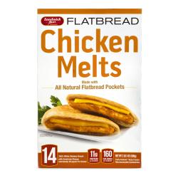 Sandwich Bros Flatbread Chicken Melts, 35.04 Oz, Box Of 14 Chicken Melts