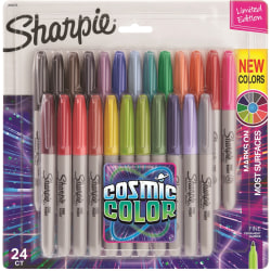 Sharpie® Cosmic Color Permanent Markers, Fine Point, Assorted Colors, Set Of 24 Markers