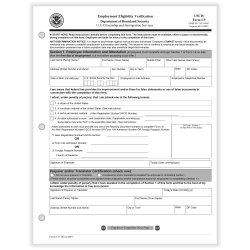 "ComplyRight™ I-9 Forms, Employment Eligibility Verification, 8-1/2"" x 11"", Pack Of 50 Forms"