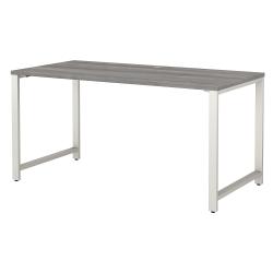 "Bush Business Furniture 400 Series 60""W x 30""D Table Desk, Platinum Gray, Standard Delivery"