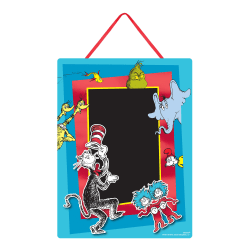 """Amscan Dr. Seuss Chalkboard Easel Signs, 14"""" x 10"""", Multicolor, Pack Of 2 Signs"""