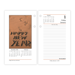 "AT-A-GLANCE® Daily Photographic Loose-Leaf Desk Calendar Refill, 3-1/2"" x 6"", January to December 2021, E41750"