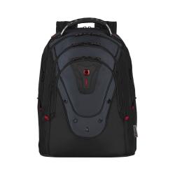 """Wenger® IBEX Backpack With 17"""" Laptop Pocket, Black/Blue"""