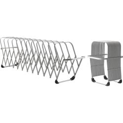"LEE Flexible Expandable Collator/Sorter/File - 12 - 7"" Width x 11"" Depth - Desktop - Silver, Gray - Aluminum - 1 Each"