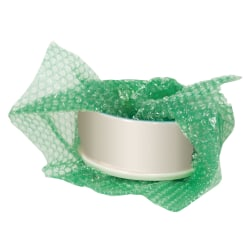 """Office Depot® Brand Bubble Roll, 3/16"""" Thick, 30% Recycled, Green, 12"""" x 100'"""