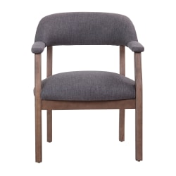 Boss Traditional Guest Chair, Slate Gray/Brown