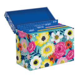 """Lady Jayne All-Occasion Note Cards With Envelopes, 3-1/2"""" x 4-3/4"""", Assorted Bright Florals, Pack Of 16 Cards"""