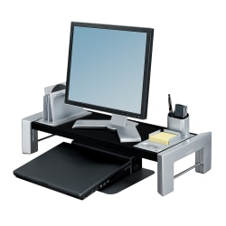 Fellowes® Professional Series Flat Panel Workstation, Black/Silver