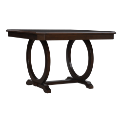 """Powell Boliver Dining Table, 36""""H x 54""""W x 54""""D, Cherry"""