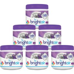 Bright Air Super Odor Eliminator Air Fresheners, Lavender/Fresh Linen Scent, 14 Oz, Pack Of 6