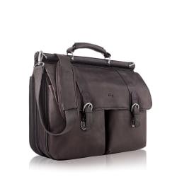 """Solo 16"""" Leather Classic Portfolio, Espresso"""