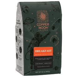 Copper Moon® World Coffees Whole Bean Coffee, Breakfast Blend, 2 Lb, Carton Of 4 Bags