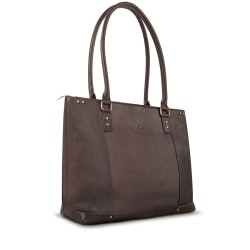"SOLO® Jay Leather Tote With 15.6"" Laptop Pocket"