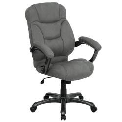Flash Furniture Microfiber High-Back Chair, Gray/Black/Titanium