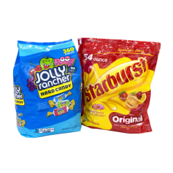 Jolly Rancher/Starburst JOLLY-BURST Chewy And Hard Candy Party Assortment, 134.4 Oz, Pack Of 2 Bags