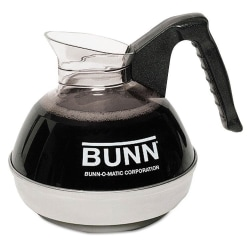 Bunn 12-Cup Coffee Decanter For Pour-O-Matic Coffeemakers, Black/Clear/Stainless Steel
