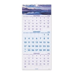 "AT-A-GLANCE® 14-Month Scenic Wall Calendar, 12"" x 27"", Multicolor, December 2020 To January 2022, DMW50328"