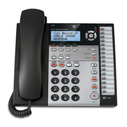 AT&T 1070 4-Line Corded Expandable Speakerphone With Caller ID/Call Waiting, Charcoal