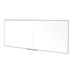 """Ghent Non Magnetic Dry-Erase Whiteboard, 48"""" x 144"""", Silver Aluminum Frame"""