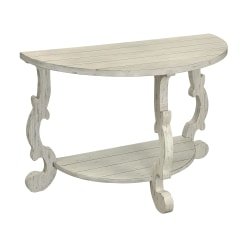Coast to Coast Orchard Park Demilune Wood Console Table, White