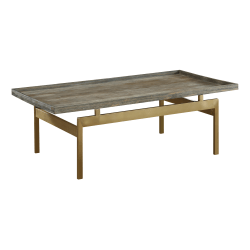 Coast to Coast Biscayne Wood Cocktail Table, Brown