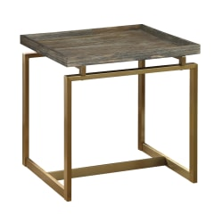 "Coast To Coast Biscayne Metal/Wood End Table, 23-1/2""H x 23-1/2""W x 23-1/2""D"