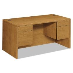 """HON® 10500 Series Double-Pedestal Desk, 60""""W x 30""""D, Harvest Cherry"""
