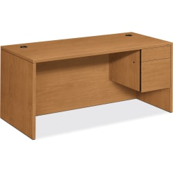 HON® 10500 Series™ Workstation Desk, Mates With Left Return, Harvest Cherry