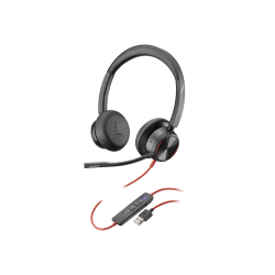 Poly Blackwire 8225-M - Headset - on-ear - wired - active noise canceling - USB-A