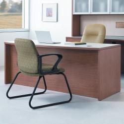 """HON® 10500 Series Double-Pedestal Desk, 72""""W x 36""""D, Harvest Cherry"""