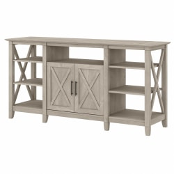"""Bush Furniture Key West Tall TV Stand For 65"""" TVs, Washed Gray, Standard Delivery"""
