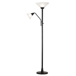 "Kenroy Home Rush Torchiere Floor Lamp, 72""H, Oil-Rubbed Bronze"