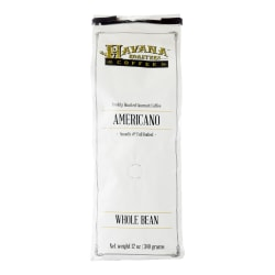 Havana Roasters Coffee Whole Bean Coffee, Medium-Dark Roast, Americano, 12 Oz Per Bag, Carton Of 3 Bags