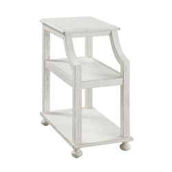 "Coast To Coast Chairside Accent Table, 26""H x 14""W x 24""D, White"