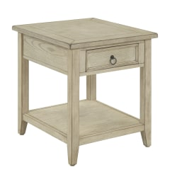 """Coast To Coast Summerville 1-Drawer End Table, 24""""H x 22""""W x 24""""D, Off-White"""