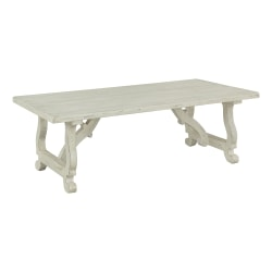 "Coast to Coast Orchard Park 54"" Wood Cocktail Table, White"