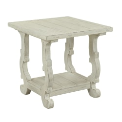 """Coast To Coast Orchard Park End Table, 24""""H x 26""""W x 24""""D, White"""