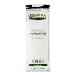 Havana Roasters Coffee Cuban Espresso Supreme Decaf Whole Bean Coffee, 12 Oz, Carton Of 12 Bags