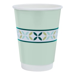 Highmark® Insulated Hot Coffee Cups, 12 Oz, 42% Recycled, Mint Green, Pack Of 50