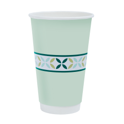 Highmark® Insulated Hot Coffee Cups, 16 Oz, 42% Recycled, Mint Green, Pack Of 50