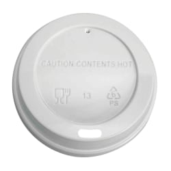Highmark® Hot Coffee Cup Lids, White, Pack Of 500