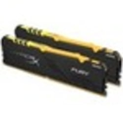 HyperX FURY RGB - DDR4 - 16 GB: 2 x 8 GB - DIMM 288-pin - 3600 MHz / PC4-28800 - CL17 - 1.35 V - unbuffered - non-ECC - black