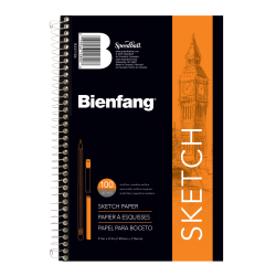 "Bienfang® Sketchbook, 8 1/2"" x 5 1/2"", 100 Sheets (200 Pages), White"