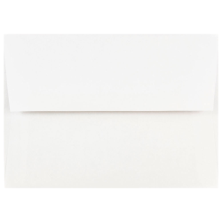 JAM Paper® Booklet Invitation Envelopes, A7, Gummed Seal, White, Pack Of 100 Envelopes