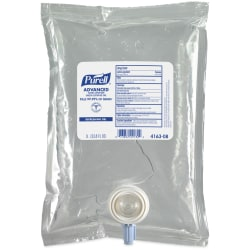 Purell® Advanced Hand Sanitizer Green Certified Gel Refills, 1000 mL, Pack Of 8 Refills