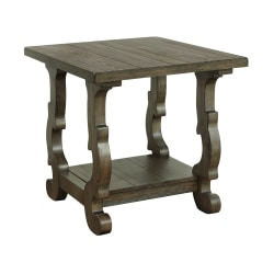 """Coast To Coast Orchard Park End Table, 24""""H x 26""""W x 24""""D, Brown"""